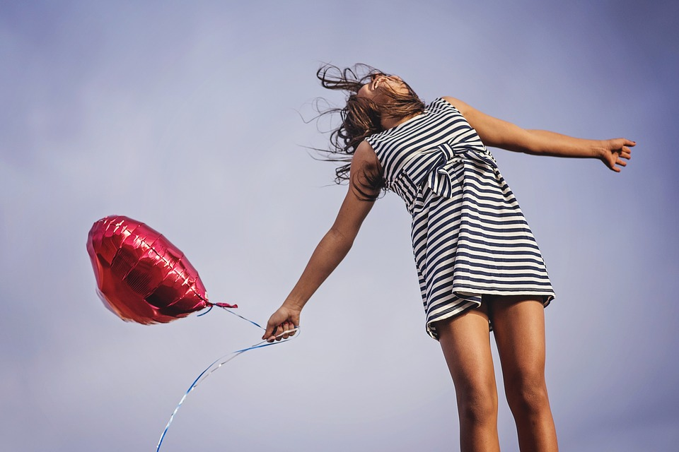 woman expressing joy